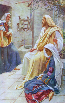Jesús en la casa de Marta y María