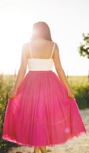 Mujer con vestido
